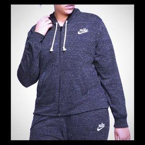 Nike Sportswear Gym Zipper front hoodie plus size